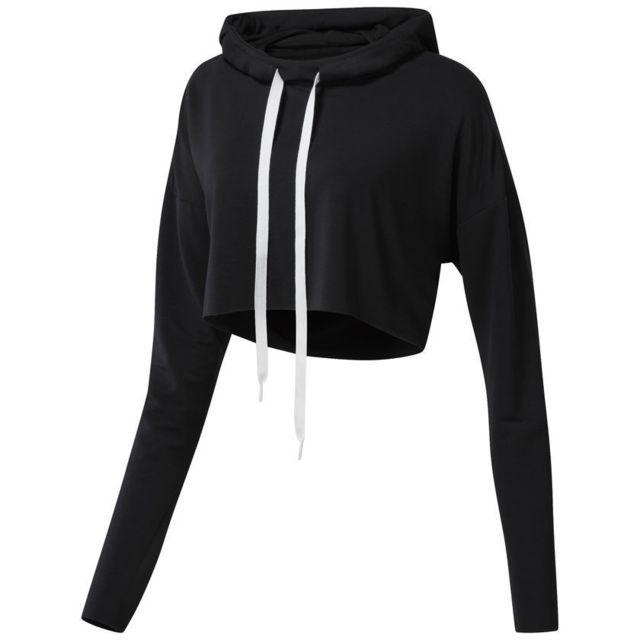 Reebok Sweatshirt à capuche femme Crop pas cher Achat