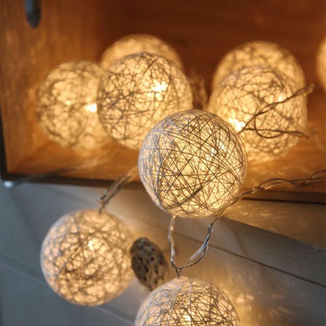 2 STARS - Guirlande LED JOLLY LIGHT Blanche Blanc Chaud