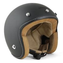 Harisson - casque jet moto scooter fibre noir mat - Ca200 Xl