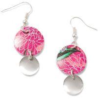 Desigual Bijoux - Boucles d'oreilles Boho Mix Circulos 72G9EK0-3047 - Boucles d'oreilles Cercles Roses Femme