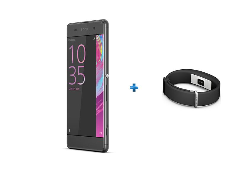Xperia XA 16Go SS Noir + Bracelet connecté SmartBand 2 - SWR12 Noir