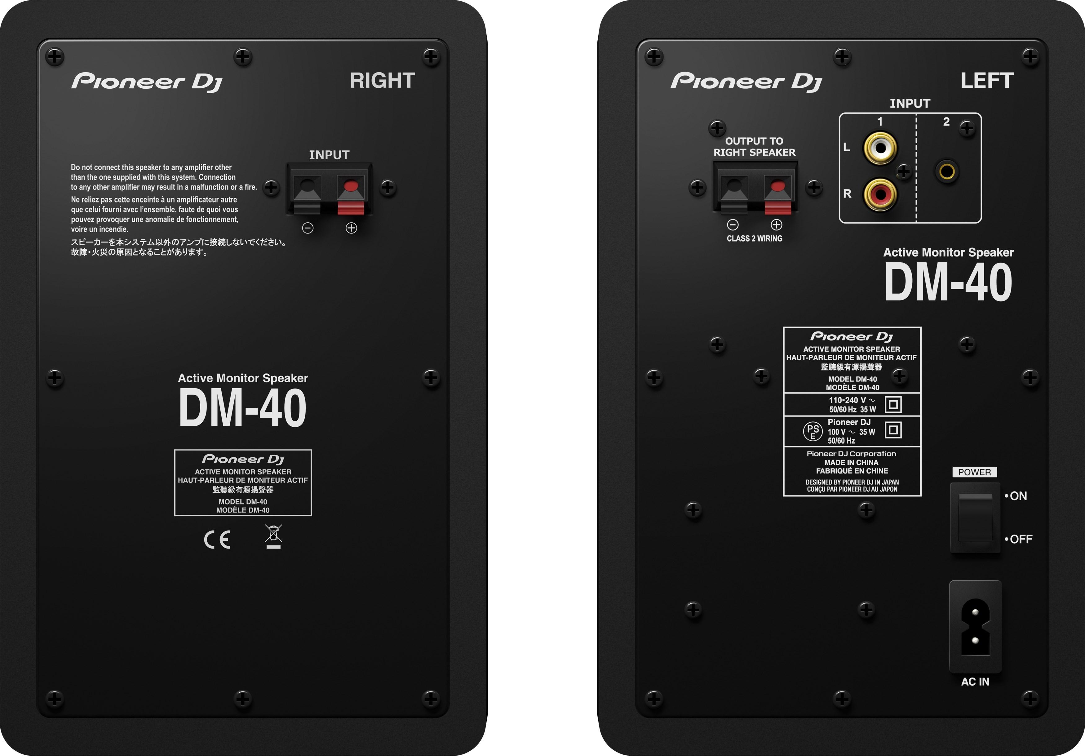 Enceintes de monitoring de bureau - DM-40 - Noir