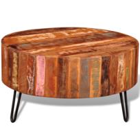 Vidaxl - Table basse ronde en bois solide recyclé