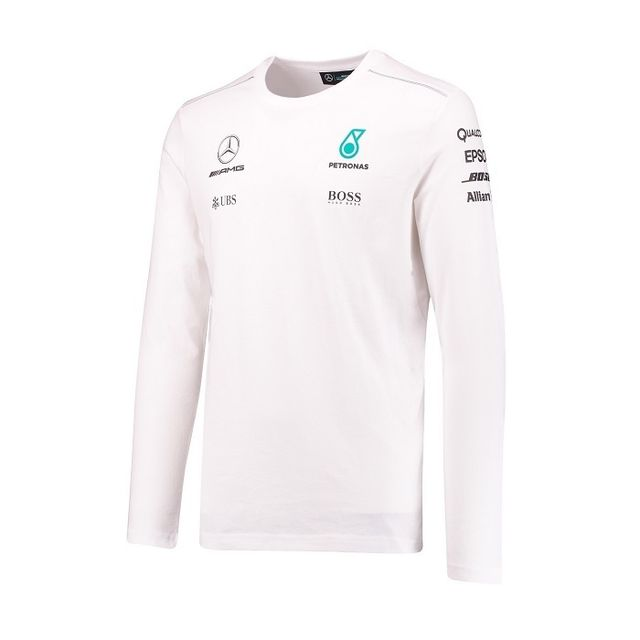 Marque Generique - T-shirt Mercedes Amg Team manches longues blanc pour  homme taille S 5ee85e6f55f
