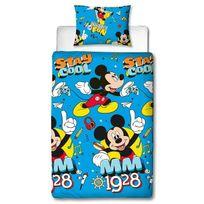 Mickey - Mouse Disney Cool - Parure de Lit Enfant - Housse de Couette