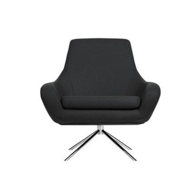Inside 75 Fauteuil pivotant Noomi gris anthracite