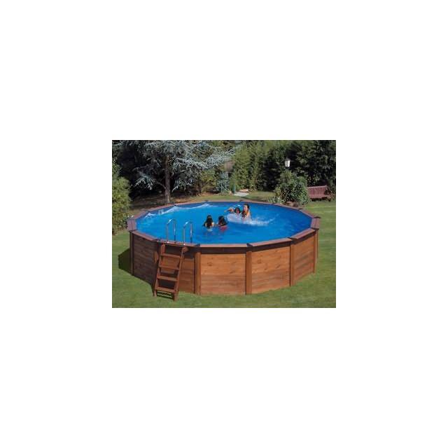 gr pools vigipiscine kit piscine hors sol gr naturepool hawaii ronde x pas. Black Bedroom Furniture Sets. Home Design Ideas