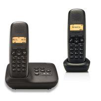 GIGASET - Téléphone fixe sans fil avec répondeur - A150 A - Duo Noir