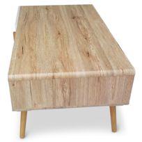 table basse bois scandinave achat table basse bois. Black Bedroom Furniture Sets. Home Design Ideas