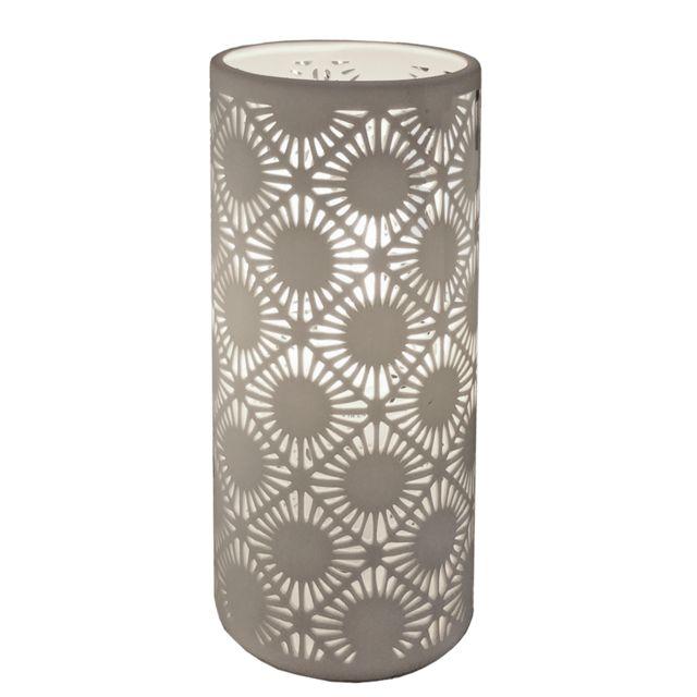 IntÉRIEUR Discount Lampe en porcelaine biscuit Nordik H.24cm