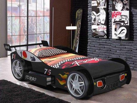 Lit voiture RUNNER avec tiroir - 90x200 cm - Noir