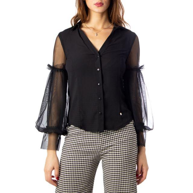Rinascimento Femme Cfc0095173003BLACK Noir Polyester Chemise