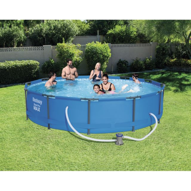 Bestway piscine tubulaire ronde steel pro max pools d for Best way piscine