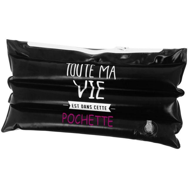 promobo coussin oreillers de plage gonflable avec pochette de rangement zipp noir pas cher. Black Bedroom Furniture Sets. Home Design Ideas
