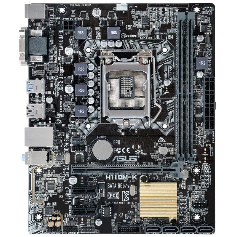 Carte mère H110M-K - Chipset H110 - Socket 1151