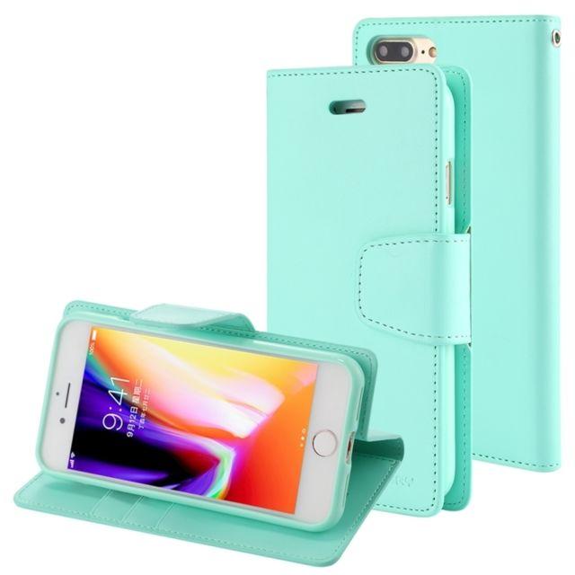 coque iphone 8 plus porte carte cuir