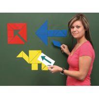 Vinco Educational - tangram magnetique - boite de 21
