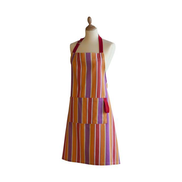 Coucke Tablier Provence en Coton Multicolore - 83 x 85 cm