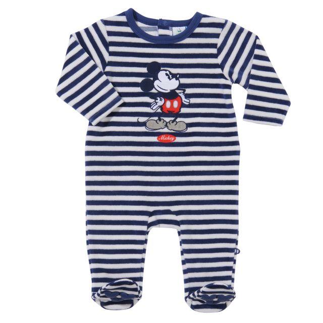 6c12aec1888fc DISNEY - Pyjama bébé MICKEY en velours - pas cher Achat   Vente ...