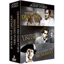 Filmedia - 3 grands films de John Ford : Vers sa destinée + Je n'ai pas tué Lincoln + Sur la piste des Mohawks