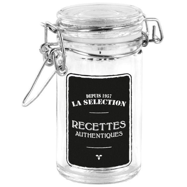 Promobo Bocal Verre Couvercle Hermétique Confiture Déco Collection Bistrot Recette Authentique 60ml