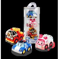Silverlit - Robocar Pack de 3 vehicules a friction - 83197