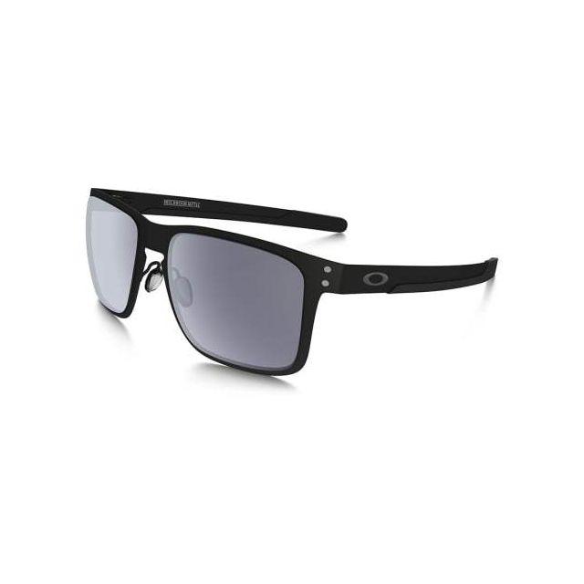 1bf12614984b2b Oakley - Lunettes Holbrook Metal noir mat avec verres Grey - pas cher Achat    Vente Lunettes - RueDuCommerce
