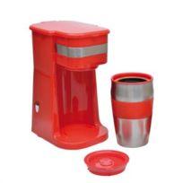 Domoclip - Mini cafetière rouge avec mug de voyage Dod118R-DOD118R
