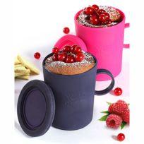 Yoko Design - Mug cake en silicone - Lot de 2 - Fuschia et Violet