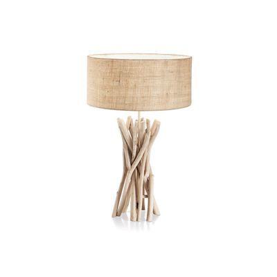 Boutica-design Lampe à poser Driftwood 1x60W - Ideal Lux - 129570