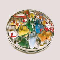 Patisse - Boite de 12 emporte-pièces Noël en inox