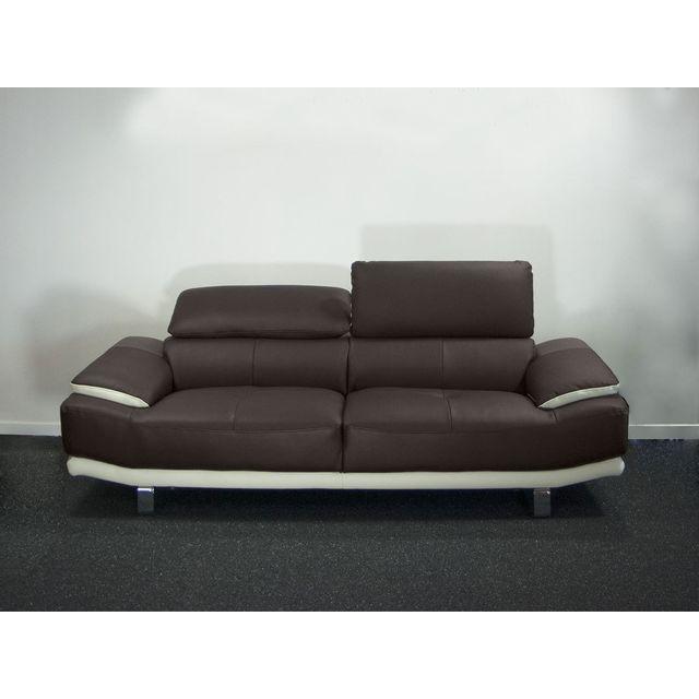 la maison du canap canap cuir 2 places osmoz cuir. Black Bedroom Furniture Sets. Home Design Ideas