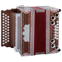 Alpenklang - 3/II Classic Harmonica G-c-f palissandre