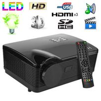 Yonis - Vidéoprojecteur Full Hd 1080P Led 3000 lumens Tv 3D Hdmi 120W Usb Sd