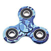 Kinsell - hand spinner camouflage modele us marines bleu rotation 1-3 min reducteur de stress favorise la concentration