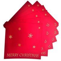 White Cotton Cards - Carte Faite Main Inscription Merry Christmas Flocons, Lot De 10