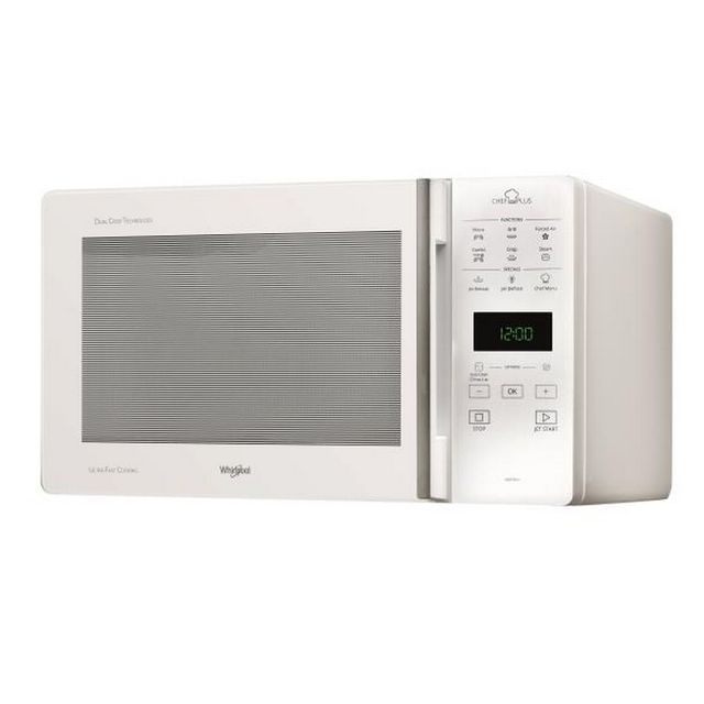 Whirlpool micro-ondes + grill 25l 800w blanc - mcp349/1wh