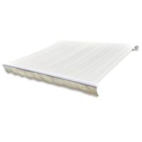 VIDAXL - Store banne en toile Blanc crème 4 x 3 m Cadre non inclus