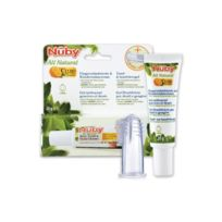 Nuby - Citroganix Pack Dentaire : Gel Nettoyant Gencives et Dents et Doigt de Massage