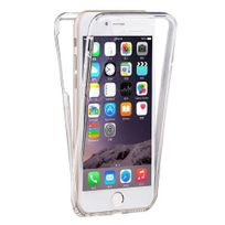 Cabling - Coque Double Gel Silicone Protection Integral pour le Smartphone Apple Iphone 6/6S - 4,7pouces, Transparent Invisible