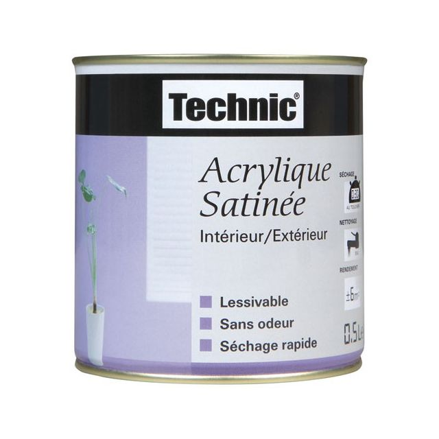 Technic Peintures Peinture Acrylique Satinée 2 5 L