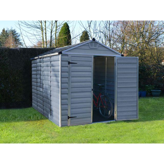 PALRAM Abri de jardin polycarbonate Skylight - 5.6 m² - Gris