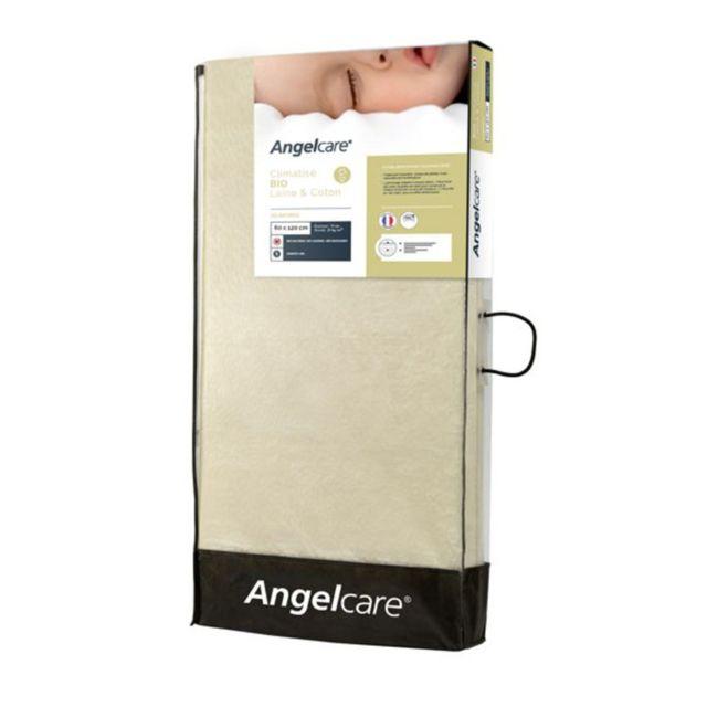 ANGELCARE Matelas Climatisé 70 x 140 cm - Bio coton/Bio laine