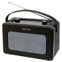 Roadstar - Radio Portable de Design Retro Vintage Tuner Po/FM Noir