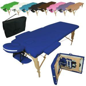 vivezen table de massage pliante 2 zones en bois housse de transport pas cher achat. Black Bedroom Furniture Sets. Home Design Ideas
