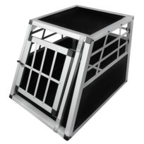 Destockoutils - Caisse de transport 1 chien 30 Kg S alu