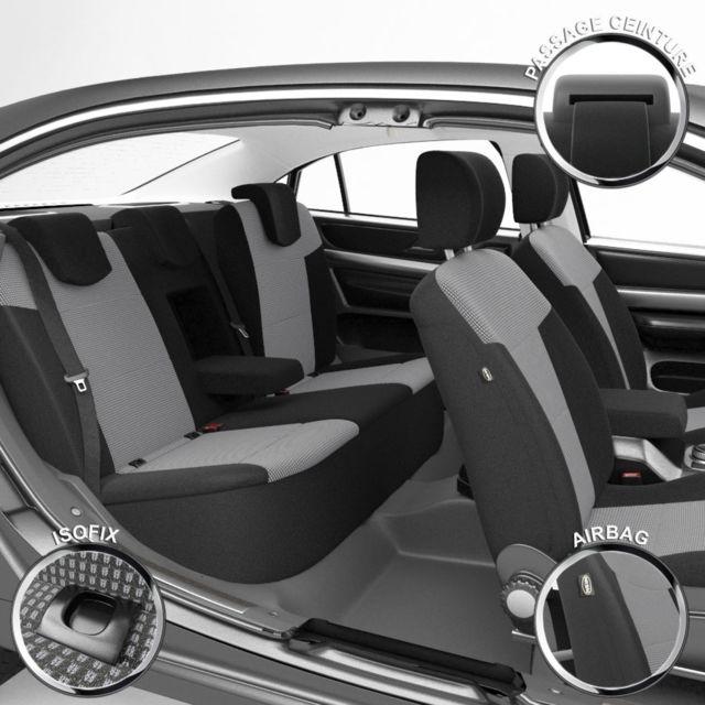 Housse De Siege Auto Voiture Sur Mesure Pour Renault Megane 3 11 2008 A 12 2016