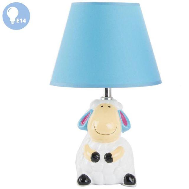 Petite Lampe De Chevet Mouton Modèle Bleu