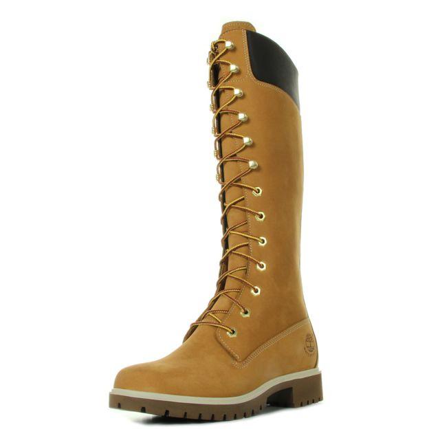 bc9dc941126f7 Timberland - 14   Waterproof Boot Wheat Nubuck - pas cher Achat   Vente Bottes  femme - RueDuCommerce