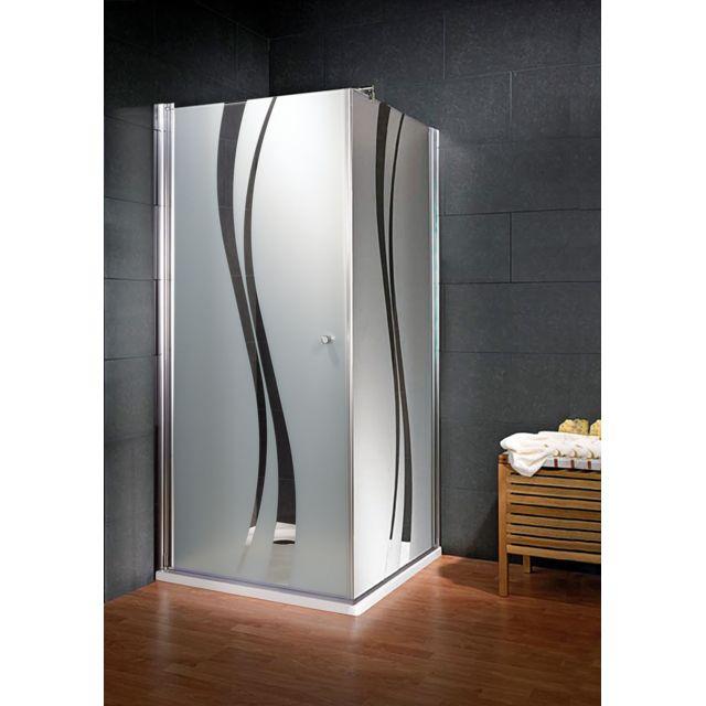 Schulte - Porte de douche pivotante Style, 90 x 193 cm, avec paroi latérale  - pas cher Achat   Vente Cabine de douche - RueDuCommerce 54db51f77bf